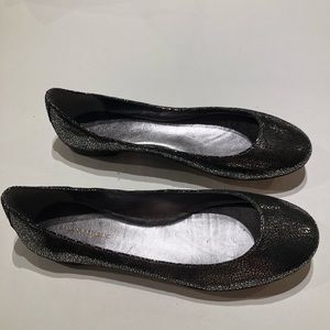 Banana Republic sz 6.5 ballerina flats metallic